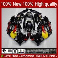 Corpo para Suzuki Katana GSX600F GSXF600 GSXF750 GSXF 600 750 CC 98 99 00 01 02 29no.22 600cc 750cc GSX750F GSXF-600 GSXF-750 1998 1999 2000 2001 2002 Fairing Black Stock