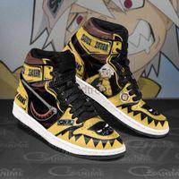 DIY Anime Fan Sneakers SOUL EATER Mens Womens Basketball Shoes Jumpman 1 Model Custom Trainers Casual shoe