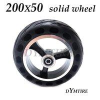 미니 전기 스쿠터 전면 및 후방 폭발 방지 비 공압 타이어 림 액세서리 오토바이 바퀴 타이어 용 200x50 솔리드 휠