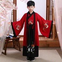 Clothing Sets Boy Hanfu Robe Traditional Chinese Costumes Ancient Retro Tang Year Suit Dance Cheongsam Kimono Toddler Cloth