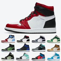 Jordan 1 Top Satin Snake High Low Mens Scarpe da basket 1S Phantom OG Nero Bianco Non per la rivendita Uomo Donne Sneakers sportive da donna 5.5-13