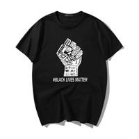 Erkek Siyah Hayat Madde Punk Baskı T-Shirt Moda Yaz Kısa Kollu Tee Streetwear Unisex Boy Harajuku Vintage Erkekler Tops
