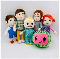 Cocomelon豪華なおもちゃソフト漫画家族Cocomelon JJ家族豪華なおもちゃ子供用ギフトかわいいぬいぐるみの玩具教育豪華な人形DHL Shipping CA21