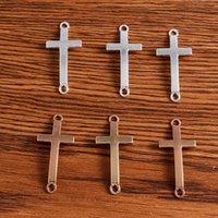 10 units / batch 17 * 37mm cross fashion charm connector Necklace Bracelet accessories handmade DIY jewelry J0527