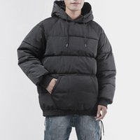 Men's Down & Parkas Mens Winter Puffer Jackets And Oversized Bubble Coat Loose Fit Pullover Jacket For Men Fashion Warm Wear Hooded Windbrea