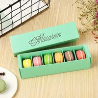 Macaron Box Cake Boxes Home Made Macaron Chocolate Boxes Biscuit Muffin Box Retail Paper Packaging 20.5*5.4*5.4cm Black Green DH8569