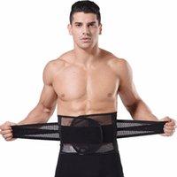 Waist Tummy Trimmer Cincher Girdle Slimming Belt Sweat Band Body Shaper Wrap Waistband Belly Burn Fat Breathable Men Abdomen Support
