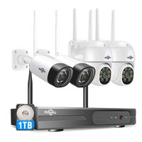 """Hiseeu 3MP 8CH Wireless Security System Kit for 1536P 1080P Outdoor video Surveillance CCTV Camera With 10.1"""" Monitor"""