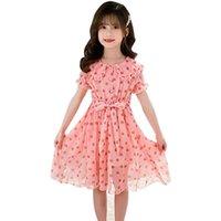 Girl's Dresses Summer Dress For Girls Dot Pattern 2021 Est Kids Teenage Costumes 6 8 10 12 14