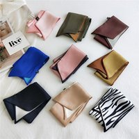 Scarves 2021 Small Silk Scarf Spring Summer Autumn Decoration Skinny Women Variety Tied Bags Fashion Streamers
