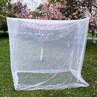 200x200x180 cm Açık Kamp Sivrisinek Net Kovucu Çadır Böcek Balıkçılık için 4 Köşe Mesaj Gölgelik Yatak