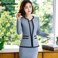 Women's Suits & Blazers 1pcs Women Plus Size Slim Fit Coats 2021 Autumn Cotton Blend Small Pocket Jackets Ladies Skinny Coat