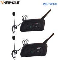 V6c Bluetooth Walkie Talkie Helm Gegensprechanlage Full DePluex 1200m Fußball Schiedsrichter Schiedsrichter Ohrhapf Monoural Kopfhörer Headset Kopfhörer