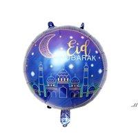 18 بوصة جولة احباط البالونات زينة نجمة القمر الهيليوم بالون رمضان اللوازم DWE7163