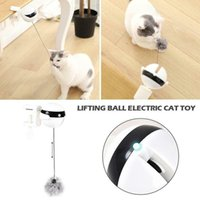 Cat Toys Self Playing Toy Teaser Automatic Lifting Electric Ball With Fluffy LSK99