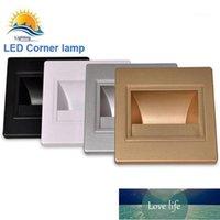 LED 1 W köşe duvar lambası AC85-265V için gömme aplik ışık kapalı led inwall aydınlatma için 86 yükleme kutusu (3000K renk) 1