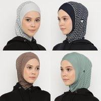 Ethnic Clothing Women's Sports Hijab Breathable Scarf Workout Mesh Muslim Jersey Headscarf Islamic Turban Caps Non-Slip Stretchy Scarves