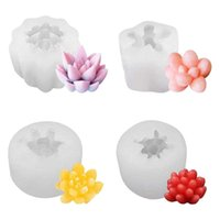 Baking & Pastry Tools 4 Pcs Candle Silicone Molds,Succulent Plants Mould Resin Casting Molds For Making DIY Soap And Epoxy Crafts