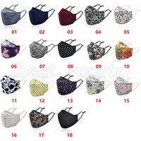 New Floral Printed Mask 18 Styles Anti Dust Face Masks Adult Washable Face Cover Reusable Cotton Cloth Mouth Muffle ZZA3403