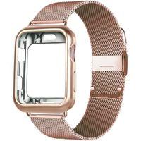 Корпус + ремешок для ленты часов Apple 44 мм 40 мм 38 мм 42 мм 40 44 мм Магнитная петля из нержавеющей стали металлический браслет из нержавеющей стали Iwatch 3 4 5 SE 6 Band