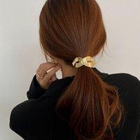 Haarklammern Barrettes 2021 Mode Vintage gebürstete Metall Stirnband Reifenschleife Zubehör für Frauen Schmuck