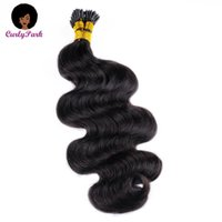Human Hair Bulks Body Wave I Tip Extensions Microlink Bulk Salon Brazilian For Black Women