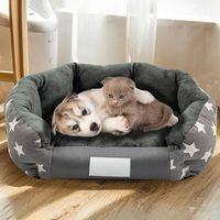 Taglie Star Stampa Stampa Pet Bed House Casa calda accogliente cane morbido Fleece Nest Canestri Mat Autunno Inverno Impermeabile Kennel Kennel Pens