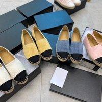 Designer Sapatos Casual Espadrille Fisherman Mulheres Moda de Couro Mocassins Um pedal de Renda Solicitiva Caixa de Laço Tamanho 34-42 Flats Ballet