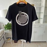 أزياء رجالي تي شيرت أسود تصميم أبيض من عملة الرجال عارضة أعلى كم قصير S-XXL