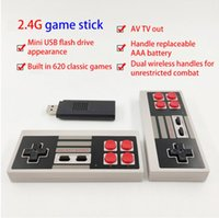 Portable Game Players AV Video Console Built-in 620 Retro Wireless Controller 720P