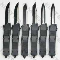 Large Combat Dragon Dual Action out the front Automatic Knife Zinc aluminum handle EDC Tactical Tool Pocket Auto Survival Gear Knives Free Engraving Cncostco