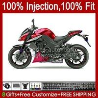 川崎忍者Z-1000 Z 1000 R 2010-2013 Z-1000R Z1000 10 11 12 13 Z1000R 2011年2011年2011年2012年OEM Bodywork Metal Red