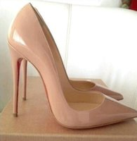New High Quality Luxury Designer Women Shoes So Kate Styles Red Soles High Heels 8cm 10cm 12cm Stiletto Heel Patent Leather Pointed Toes Pumps Red Bottoms With Box