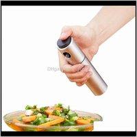 Utensils Kitchen Tools Kitchen Dining Bar Home Garden Drop Delivery 2021 Stainless Steel Fine Mist Olive Pump Spray Bottle Oil Sprayer Pot Co