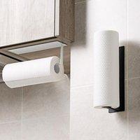 Topes de papel higiénico Soporte de toalla de acero inoxidable Rack Cocina Rollo Autoadhesivo Toliet Accesorios