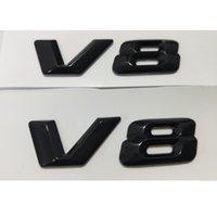 Gloss Black 3D Letters V 8 Badges Emblems Number Emblem Badge Sticker for Mercedes Benz AMG V8