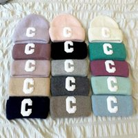 Knitted Hat Beanie Hats Fashion Patchwork Design for Man Woman Rabbit Fur Winter Cap 15 Colors High Quality