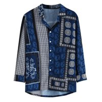 Men's Casual Shirts Cool Shirt Fashion Printing Loose Single-Breasted Lapel Jacket 2021 Summer -Selling Plus Size Clothing M-3XL