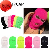 Full face mask men's caps fashion designer hats women's casual knitting ski riding beanie scarf keep warm