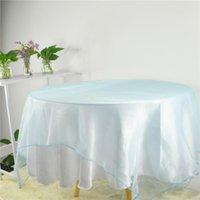 Tabela de toalha de pano de mesa quadrada para casamentos aniversário Natal El restaurante sobreposições decoração