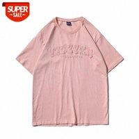 Estate e americana Strada Estate Retro Lettera Stampa T-shirt a maniche corte Donne Donne Trendy Brand Hip-Hop Allentati Coppia casuale Com # 6H4T