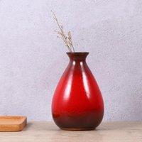 セラミック花瓶デスクトップシンプルなデザインオフィスバーの家の花瓶のためのスタイリッシュな装飾的な花の容器
