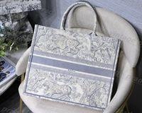Top Quality Bordado Luxurys Designers Sacos Hobo Bordado Tigre Padrão Grande Capacidade Saco de Compras Bolsa Bolsa Bolsa Handmade Dupla-Fashion