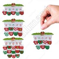 Creative Personalized Resin Stocking Socks Family Christmas Tree Ornament Decorations Pendants