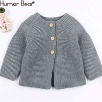 Winter Autumn Baby Girls Boys Sweater Cardigans Long Sleeve Knitted Jackets Toddler Infant Knitwear Coat 210611