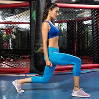 Yoga Outfits Stretchy Sport Pants Women Squatproof High Waist Running Training Cropped Trousers Workout Tights Female Gym Leggings