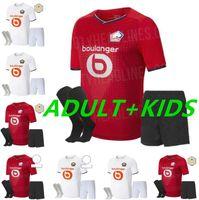 Adult + Kit Kit 22 22 LOSC LLELE SOCCER Jerseys David Fonte Burak Bamba Yazici Camisetas de fútbol 2021 2022 Jikone R.Sanches T.Weah L.Arájo Maillots Fans
