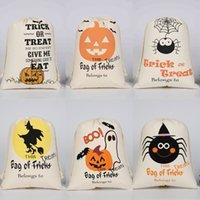 هالوين الأطفال الهدايا الحلوى أكياس الرباط القطن الكرتون اليقطين شبح خطابات المطبوعة حزمة جيوب رسم سلسلة حقيبة للأطفال G89VHRK