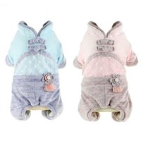 Dog Apparel Warm Clothes Coat Cotton Winter Vest Jackets Hooded Chihuahua Thickening Pets Jumpsuits