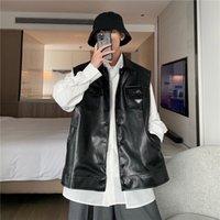 21ss Klasik Hip Hop Erkek Yelek Sıcak Rahat Yüksek Yaka Yüksek Kaliteli İpek Deri Yastıklı Kış Açık Spor Küçük Etiket Ceket